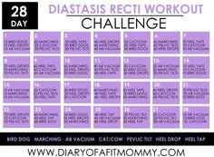 Diary of a Fit Mommy28 Day Diastasis Recti Workout Challenge - Diary of a Fit Mommy