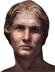 Photoshop reconstruction of the face of Alexander the Great, King of the northern Greek kingdom of Macedonia