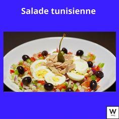 Recette: Salade Tunisienne Fruit Salad, Food, Mint, Tomatoes, Fruit Salads, Eten, Meals, Diet
