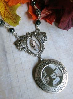 A Witches' Tea Party Locket Necklace with by SihayaDesigns