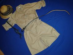 Costume Halloween Safari tan jumpsuit shorts by RestyledCostumes.... For my higgins costume.