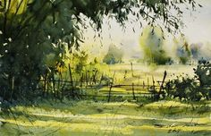 New year's day in the morning, Khonkaen (watercolor, 30x45 cm):