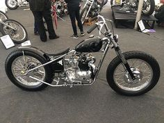 What a wicked little Triumph, the chrome frame really nails it!
