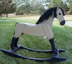 Beautiful handmade wooden rocking horses by therockinghorsebarn