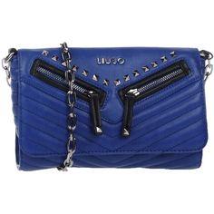 Liu •jo Cross-body Bag ($120) ❤ liked on Polyvore featuring bags, handbags, shoulder bags, blue, mini crossbody purse, crossbody handbag, studded purse, mini purse and blue handbags