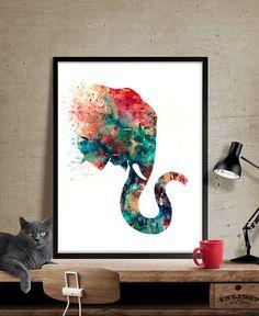 Éléphant Art Print, Art aquarelle, aquarelle Elephant, Elephant Print Wall Decor - Art, Art mural, décoration, Art Print, affiche, Illustration, dessin, peinture, aquarelle, oeuvre, FineArtCenter ------------------------------------------------------------------------------------------------ Tailles disponibles sont indiqués dans la sélectionner une taille liste déroulante au-dessus du bouton Ajouter au panier…