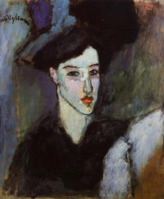 """Amadeo Modigliani 1884-1920  The Jewish Woman 1908  Oil on canvas 21⅝""""x18""""  Private collection"""