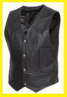 GILET CUIR NOIR BIKER Sons of anarchy:Choppers TAILLE L