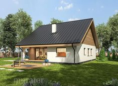 projekt domu C333b Miarodajny - wariant II - Murator projekty Home Fashion, Cottage, House Design, Outdoor Structures, House Styles, Wille, Houses, Home Decor, Tricot