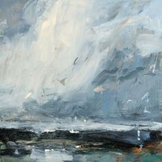 Artist Louise Balaam creates atmospheric landscapes and abstract paintings in Sevenoaks, Kent, South East England, uk: