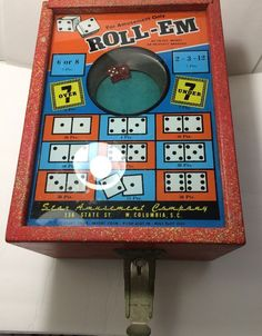 Roll em coin operated nickel dice game no key ebay