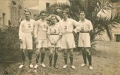 "Basque ""Pelota"" sports team wearing espadrilles (1912)"