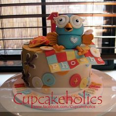 Giggle and Hoot Cake by Cupcakeholics, Owl Cakes, Cupcake Cakes, Cupcakes, Birthday Fun, Birthday Cakes, Birthday Ideas, Birthday Parties, Teen Cakes, Dessert Decoration