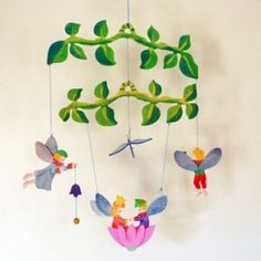 Kinderkram Wooden Baby Mobile - Flower Fairy