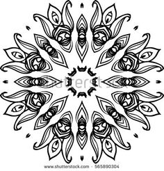 Mandala illustration for backgrounds, coloring books, pattern designs, logos and etc.
