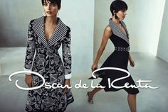 OSCAR DE LA RENTA SS 2014 AD CAMPAIGN Models: Kate Bogucharskaia and Emily DiDonato  Photographer: Norman Jean Roy Short black Pixie Hair Cu...