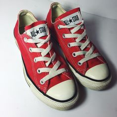Converse Classic Red Sneakers Converse red low top sneakers. Women's size 6. In great condition! NO Trades. Please make all offers through offer button. Converse Shoes Sneakers