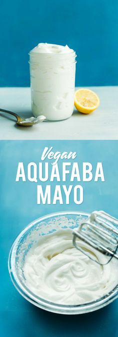 CREAMY Tangy Vegan Mayonnaise with Aquafaba made with a HAND MIXER! Easy, 10 minutes, 8 ingredients, SO tasty!