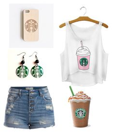 """""""starbucks"""" by thornton4221 on Polyvore featuring Pieces"""