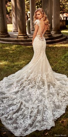 >>>Cheap Sale OFF! >>>Visit>> eve of milady bridal spring 2018 embellished cap sleeves straps sweetheart beaded lace mermaid fit flare lace wedding dress bv chapel train glam elegant illusion low back -- Eve of Milady Boutique Spring 2018 Wedding Dresses Eve Of Milady Wedding Dresses, Formal Dresses For Weddings, Wedding Bridesmaid Dresses, White Wedding Dresses, Wedding Dress Styles, Bridal Dresses, Lace Weddings, Lace Mermaid Wedding Dress, Mermaid Dresses