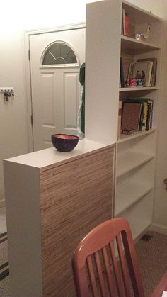 How to create an entryway: bookcases