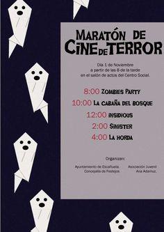 Cartel para el maratón de cine de terror 2014. Octubre 2014.