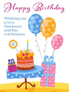 Send Free Awesome & Fun – Happy Birthday Card to Loved Ones on Birthday & Greeting Cards by Davia. It's free, and you also can use your own customized birthday calendar and birthday reminders. Best Happy Birthday Message, Birthday Message For Friend, Special Birthday Wishes, Happy Birthday Wishes Cards, Birthday Wishes And Images, Birthday Wishes Messages, Cool Birthday Cards, Birthday Reminder, Happy Birthday Fun