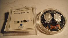 Silver Civil War Battle Flags Commemorative Coin...  This is Awesome, would be Great for any Collection !!!
