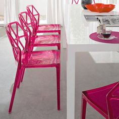 Acrylic Stacking Chairs In So Many Fab Colors From Alchemia Dining Chair Setdining Room
