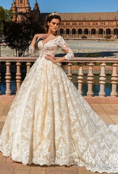 crystal design 2017 bridal three quarter sleeves v neck full embellishment ivory color princess ball gown a line wedding dress monarch train