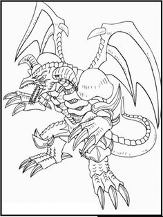 Yu Gi Oh Black Skull Dragon coloring picture for kids