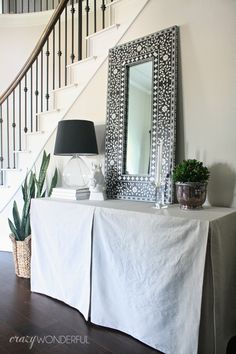 Crazy Wonderful: DIY skirted table | no sew