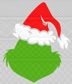 Grinch Head (Simple) SVG, PNG, and STUDIO3 Cut Files for Silhouette Cameo/Portrait and Cricut Explore DIY Craft Cutters by MisleyFamilyBusiness on Etsy https://www.etsy.com/listing/569847457/grinch-head-simple-svg-png-and-studio3