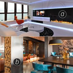 Your future favourite room paired with your current favourite fireplace? A or B?  www.facebook.com/planikafire www.planikafires.com