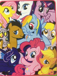 "My Little Pony Micro Raschel Throw Blanket 50"" x 60"" Soft Cuddly"