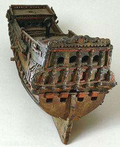 ship model created 1643-1715.
