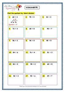 Grade 3 Maths Worksheets Division 6 6 Short Division Without Remainder 3rd Grade Math Worksheets Math Worksheet Short Division