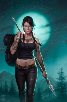 Dan Dos Santos cover art - Night Broken by Patricia Briggs. (Mercy Thompson series