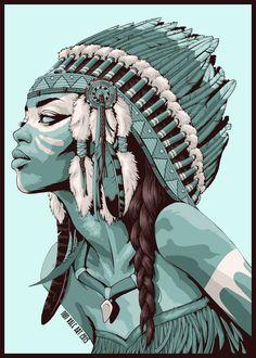 "Consulta este proyecto @Behance: ""Native Americans""…"