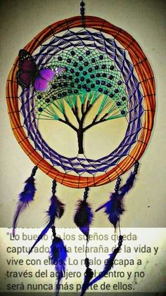 ATRAPA SUEÑOS Dream Catcher Craft, Diy Projects, Dreamcatchers, Crafts, Awesome, Ideas, Craft, January, Beautiful Gifts