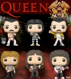 Queen com Freddie Mercury, Brian May, John Deacon e Roger Taylor Brian May, John Deacon, Funko Pop Figures, Pop Vinyl Figures, Queen Poster, Queen Meme, Funk Pop, Disney Pop, Roger Taylor