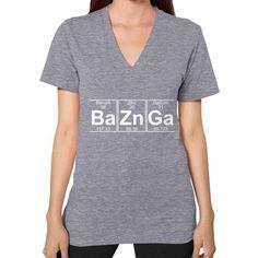 Ba Zn Ga (baznga) V-Neck (on woman) Shirt
