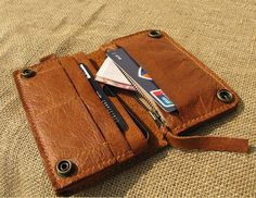 Multifunction leather wallet iPhone 4/4s bag and by leatheridea, $49.00