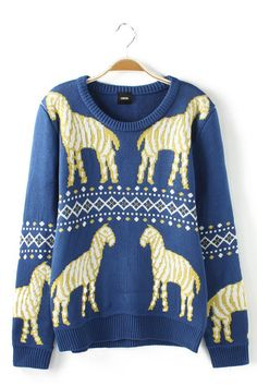 Ancient Rome Troy Wood Horses k.n.i.t // http://www.6ks.com/ancient-rome-troy-wood-horses-print-sweaters_d4683.html