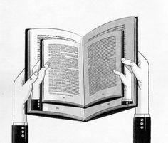 Leyendo y releyendo (ilustración de Ramón París)