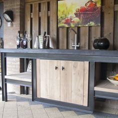 Outdoor Kitchen Bars, Patio Kitchen, Bbq Island, Backyard Pavilion, Barbecue, Man Cave, Home Improvement, House Styles, Porches