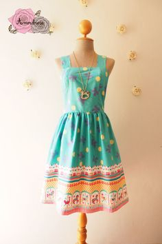d2516dc46a52 MY FAIRY TALE - Light Jade Green Summer Dress Carousel Dress Cute Style  Dress Woodland Bridesmaid Dress Blue Party Dress -xs-xl