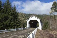 Hayden Covered Bridge outside of Alsea, Oregon in Feb.