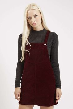 PETITE Cord Pinafore Dress - Topshop