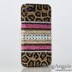 Swarovski Luxury Leopard Crystal Bling Case Cover for iPhone 4s. Yes, I own this. Yes, I'm ridiculous.